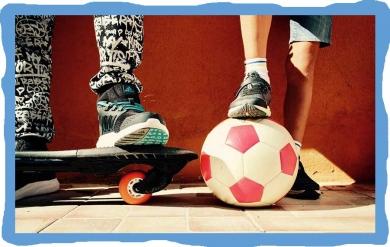 Sportování v družině