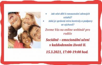 Nabídka online semináře pro rodiče